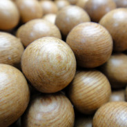 Rosewood 15mm Round Wood Beads