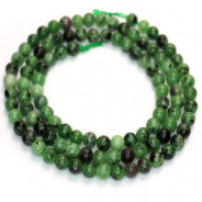 Ruby Zoisite 4mm Round Beads