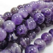 Sage Amethyst 8mm Round Beads