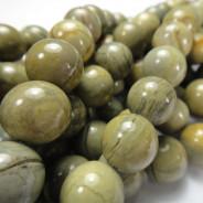Silver Leaf Jasper 12mm Round Beads