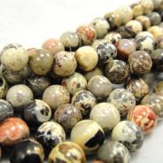 Silver Leaf Jasper 6mm Round Beads