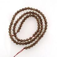 Smoky Quartz 4mm Round Beads