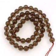 Smoky Quartz 8mm Round Beads
