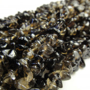 Smoky Quartz Chip Beads