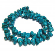 Stabilised Turquoise 10mm Chip Beads