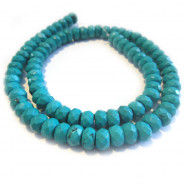 Stabilised Turquoise Faceted 5x8mm Rondelle Beads