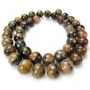 Staurolite (Chiastolite) 10mm Round Beads