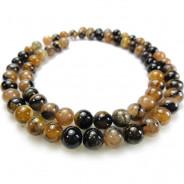 Staurolite (Chiastolite) 6mm Round Beads