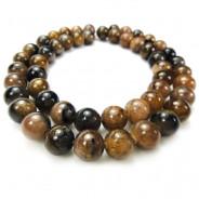 Staurolite (Chiastolite) 8mm Round Beads