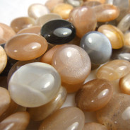 Sunstone 12mm Coin Beads