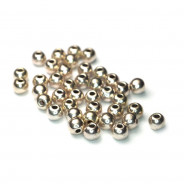 Tibetan Silver 4mm Plain Round Beads (Pack 40)