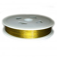 Tiger Tail Gold (.38mm) Beading Wire 60m Roll