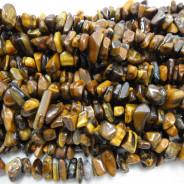 Tiger Eye Large Chip Beads