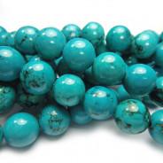 Stabilised Turquoise 10mm Round Beads