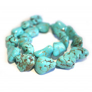 Turquoise Dyed Howlite Nugget Beads