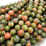 Unakite 6mm Round Beads