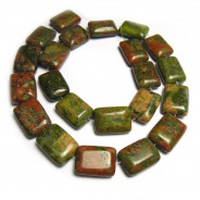 Unakite Rectangle Beads