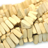 Natural White Wood Triangle Beads