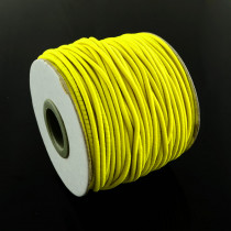 Yellow Elastic Cord 2mm Round 40m Roll