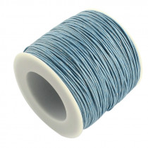 Steel Blue Waxed Cotton Cord 1mm 74M Roll