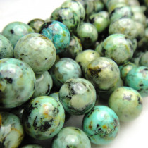 African Turquoise Round 10mm Beads