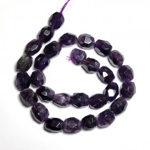 Amethyst Faceted Nugget Beads