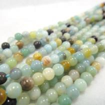 Multicolour Amazonite 4mm Round Beads