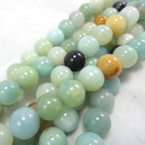 Multicolour Amazonite 8mm Round Beads