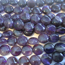 Amethyst 10mm Coin Beads (AB-Grade)