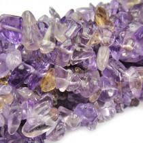 Ametrine Chip Beads