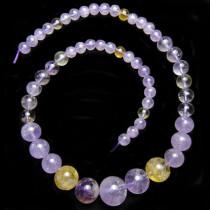 Ametrine Graduated Round Beads
