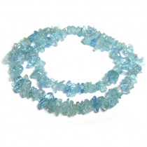Aquamarine Gemstone Chip Beads