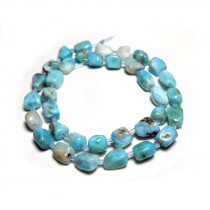 Larimar 10mm Nugget Beads