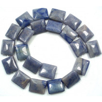 Blue Aventurine 18x15mm Rectangle Beads