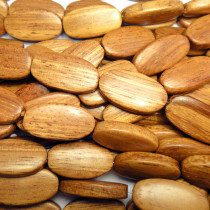 Bayong Flat Oval Wood Beads