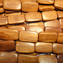 Bayong Flat Rectangle Wood Beads