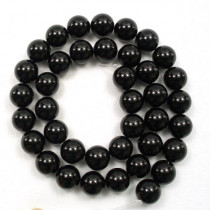 Black Onyx 10mm Round Beads