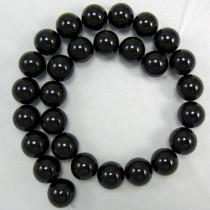 Black Onyx 14mm Round Beads