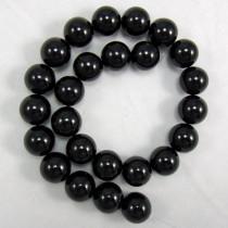 Black Onyx 16mm Round Beads