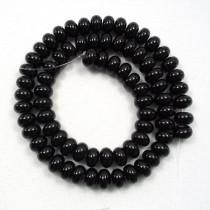 Black Onyx 8x5mm Rondelle Beads