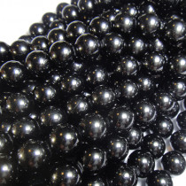 Black Tourmaline 10mm Round Beads