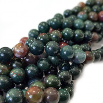 Bloodstone 8mm Round Beads