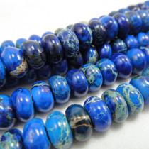 Blue Impression Jasper 5x8mm Rondelle Beads