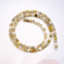 Botswana Agate 4mm Round Beads