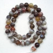 Botswana Agate 8mm Round Beads