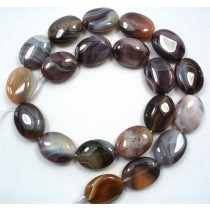 Botswana Agate 15x20mm Oval Beads