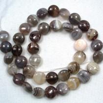 Botswana Agate 10mm Coin Beads