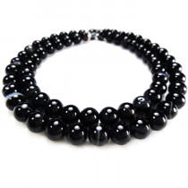 Brazilian Black Sardonyx 6mm Round Beads