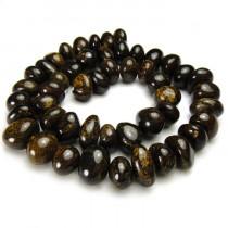 Bronzite 8x13mm Center Drilled Nugget Beads