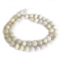 Natural Burmese Jade 8mm Round Beads